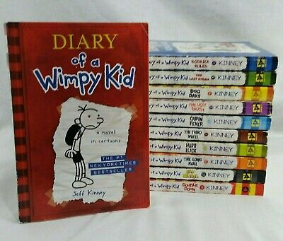 Diary of a Wimpy Kid Series 1-11 Lot of 11 Books Kids Chapter Paperback Set