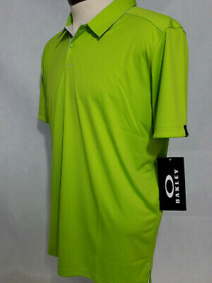 Oakley Mens Divisonal Polo T Shirt Tee Golf NWT Hydrolix Large lime Tailored