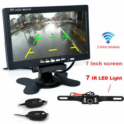 "7"" TFT LCD Rearview Monitor With A Wireless Night Vision Car Backup Camera kit"