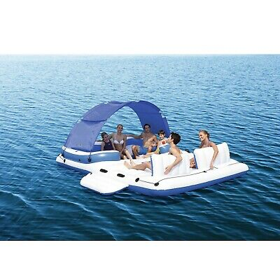 Bestway floating island 6 Person Pool Lake Raft river water adults inflatable US