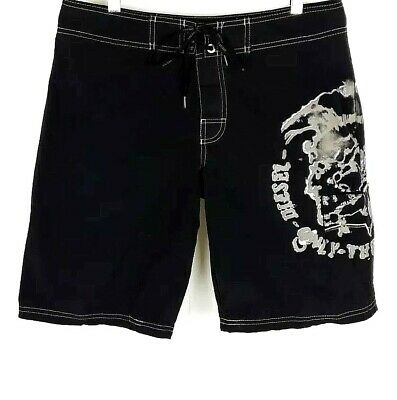 d83511d17c DIESEL Mens SIZE SMALL 31-33 Black ONLY THE BRAVE Mesh Lined Swim Board  Shorts