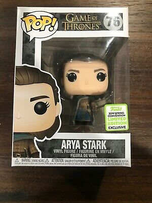 Funko Pop! Game Of Thrones Arya Stark #76 ECCC 2019 Exclusive BoxLunch In Hand