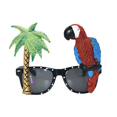 1pc Adorable Funny Durable Cute Hawaiian Tropical Sunglasses for Party Carnival