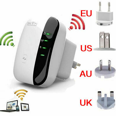 Hot WiFi Range Extender Super Booster 300Mbps Superboost Boost Speed Wireless Be
