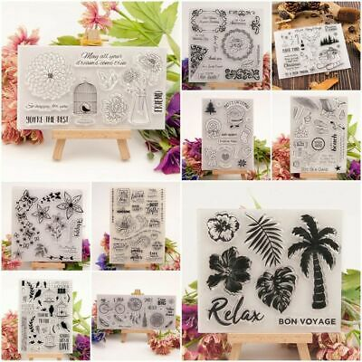 Various Silicone Clear Stamp Transparent Rubber Stamps DIY Scrapbooking Crafts B