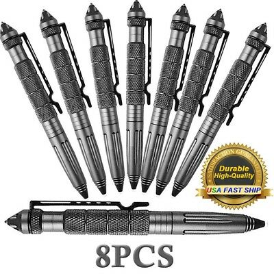 "4/8Pcs 6""Aluminum Tactical Pens Glass Breaker Writing Survival Tool Pen US STOCK"
