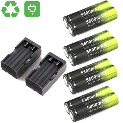 Skywolfeye 18650 Battery 5800mAh 3.7V Li-ion Rechargeable Batteries For Torch