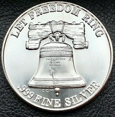 Let Freedom Ring Liberty Bell Trade Unit 1 oz .999 Fine Silver Coin CCM (2108)
