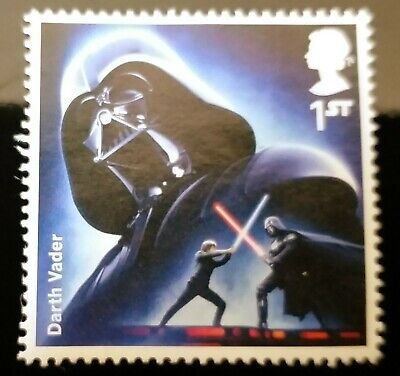 Darth Vader 1st Class GB Commemorative Stamp