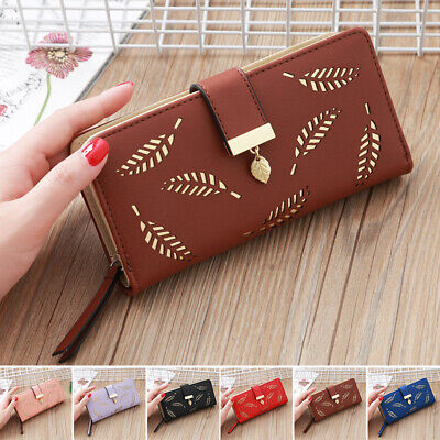 Fashion Women PU Leather Long Wallet Card Holder Coin Purses Bag Small Handbag