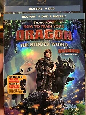 How To Train Your Dragon 3 The Hidden World Blu-Ray DVD w Slip Canada NO DC LOOK