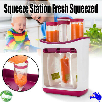 2019 New Baby Feeding Food Squeeze Station Toddler Infant Fruit Maker Dispenser