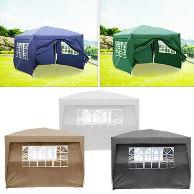 3MX 3M Waterproof Pop Up Gazebo Garden Wedding Party Awning Tent with Sides Rope