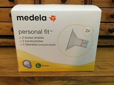 Medela Personal Fit Breast Shield x 2 Large 27 mm FREE POSTAGE