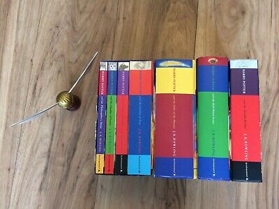 Harry Potter Books 1-7 Collection 3 1st Editions Its Magic Set 1 Misprint Snitch