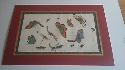 CHINESE PITH RICE PAPER QING DYNASTY 19 x 32 cm  Painting excluding board ( E )