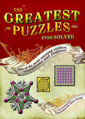 """""""AS NEW"""" Dedopulos, Tim, The Greatest Puzzles Ever Solved, Hardcover Book"""