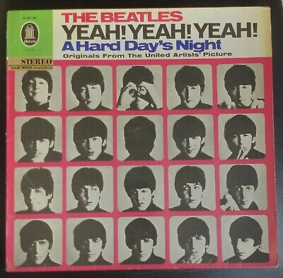 BEATLES original HARD DAYS NIGHT SMO 83 739 Germany sticker stereo export 1964