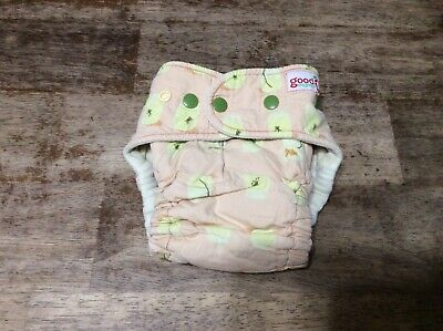 Goodmama birth to toddler cloth fitted diapers one size Frog tadpole