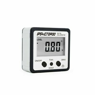 Mini Digital Angle Gauge With Backlight Electronic Protractor Inclinometer New