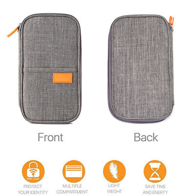 RFID Blocking Passport Card Holder Pouch Security Travel Wallet Bag