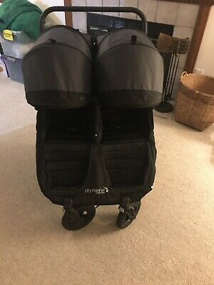 Baby Jogger City Mini GT Double Black/Shadow Standard Double Seat Stroller