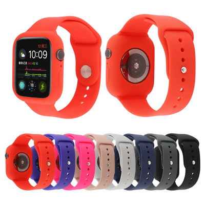 Silicone Band Strap + Case Cover For Apple Watch Series 4 3 2 1 42/44mm 38/40mm