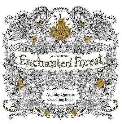 , Enchanted Forest: An Inky Quest & Colouring Book, Paperback, Very Good Book