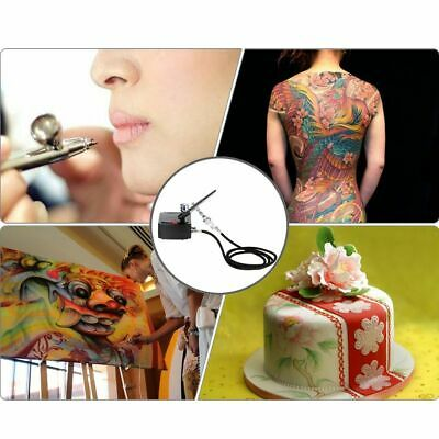 Dual Action Airbrush Spray Gun Air Compressor Kit Art Painting Tattoo Manicure