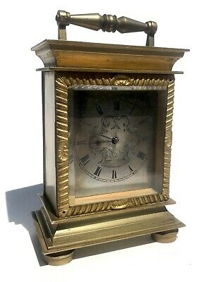 Antique Carriage Clock With 18Th.c Verge Fusee Pocket Watch Movement