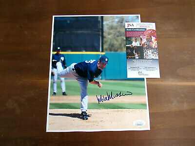 Mike Mussina Hof New York Yankees Orioles Signed Auto Color 8 X 10 Photo Jsa
