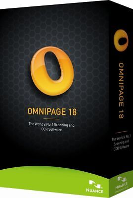 Nuance OmniPage 18 Pro Electronic Delivery FULL VERSION  *Instant Delivery*