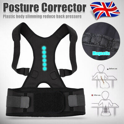 Neoprene Magnetic Posture Corrector Bad Back Support Lumbar Shoulder Belt Brace