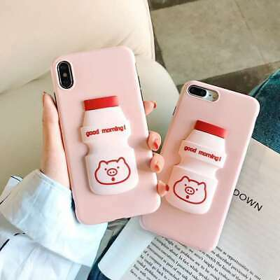 Popular New Soft Silicone Cute Cartoon Milk Phone Case Cover For Various Phones