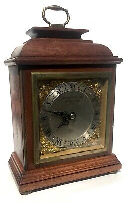 ELLIOTT LONDON Mahogany Bracket Mantel Clock GARRARD 112 REGENT ST LONDON