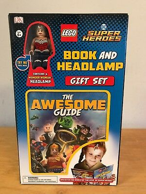LEGO DC Super Heroes Wonder Woman MINI FIGURE Book & Headlamp Gift Set DK Reader