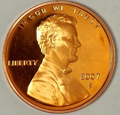 2007-S 1C Lincoln Memorial Cent 18rr0902 GDC Proof Only 50 Cents for Shipping