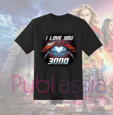 Avengers Endgame T-shirt Maglietta Maglia Marvel Studios I Love You 3000 film 28