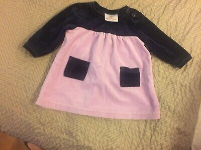 ca61a8f04 *Hanna Andersson*Infant Girls Size 60 European Velour Lavender & Navy  Dress-Cute