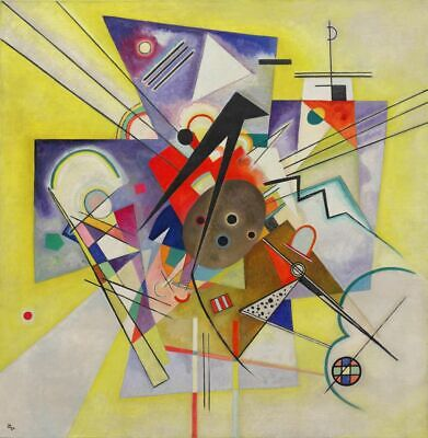 KANDINSKY WASSILY Yellow Accompa LITHO Print Ed 300 Signed & Hand Number 56x38cm