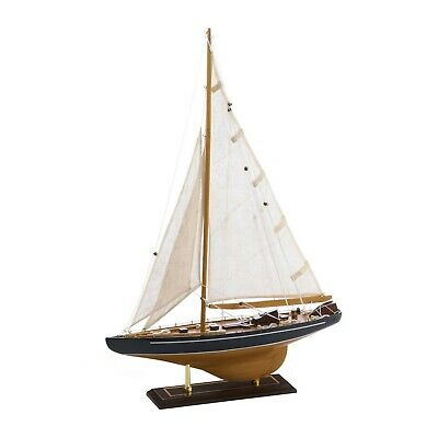 Gorgeous Tall Ship Model Wooden Sailboat Coastal Nautical Decor