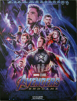 AVENGERS ENDGAME Affiche Cinéma Originale ROULEE 53x40 Movie Poster Chris Evans