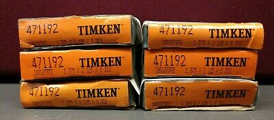 """Lot of 6"" Timken 471192 Tapered Roller Bearing - New/Old Stock (In Box)"