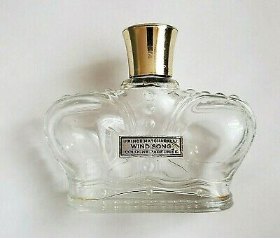 Vintage Crown Shaped Prince Matchabelli 4 oz. Wind Song Empty Perfume Bottle