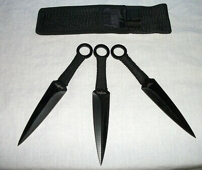 """Perfect Point PP-869-3 6-3/8"""" Stainless Steel Kunai Throwing Knives Set Of 3 NEW"""