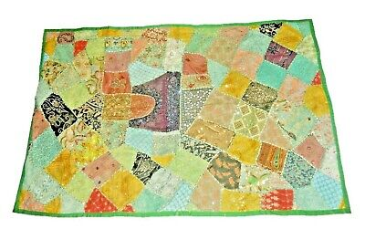 Embroidered Vintage Patchwork Handmade Wall Hanging Tapestry Throw Runner Mat W1