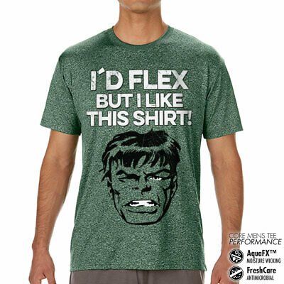 Sous Licence The Hulk I ´ D Flex But Like This T-Shirt Performance Homme S-XXL