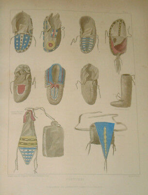 SCHOOLCRAFT - INDIAN TRIBES- 1853- volume 3 only, with hand-colored plates