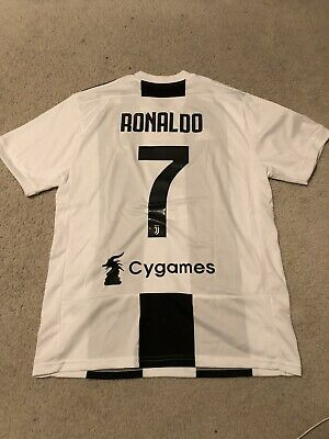 02532145f56 Adidas Juventus Authentic Home Jersey 7 Cristiano Ronaldo 2018 / 19 size L