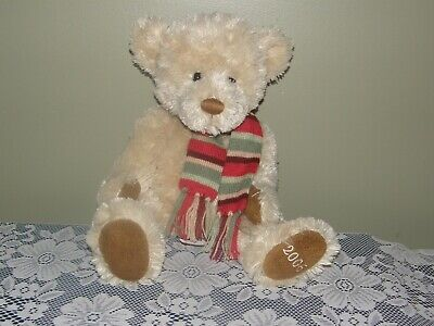 """2006 Plush Bear BOMBAY EXCLUSIVE  - Easton with Scarf 18"""""""